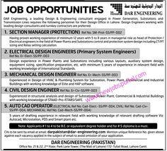 Job Opportunities (DAR Engineering) - New Jobs Portal