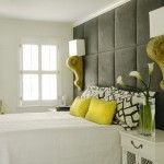 beautiful colour combo - warm gray and lime