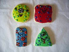 Little Monsters / Alien Sugar Cookies with by parchmentcookies, $25.00
