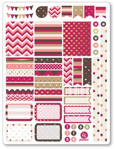 Amore Decorating Kit / Weekly Spread Planner Stickers for Erin Condren Planner, Filofax, Plum Paper