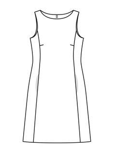 Платье приталенного силуэта - выкройка № 108 В из журнала 9/2015 Burda – выкройки платьев на Burdastyle.ru