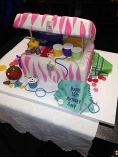 sewing box cake — Birthday Cake Photos