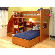 Great Wooden L-Shaped Bunk Beds with Space-Saving Features - http://goodhomedesign.org/great-wooden-l-shaped-bunk-beds-with-space-saving-features/