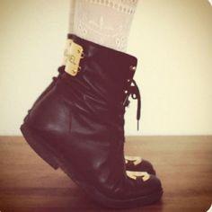Black Booties @Julianne Polowicz