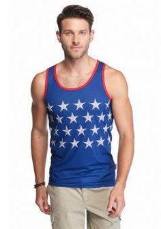 Brooklyn CLOTH Mfg. Co.  Embossed Stars Print Tank