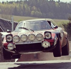 The greatest rally car of all time---the Lancia Stratos with Ferrari derived V6 engine.