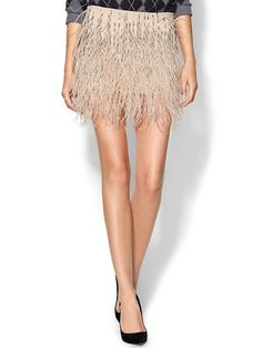 pull your own jenna lyons with an ostrich feather skirt for the holidays ;)