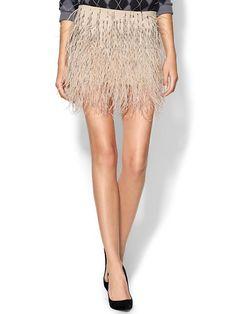 blush feather skirt