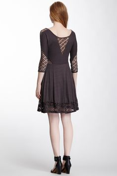 Free People To the Point Fit & Flare Dress