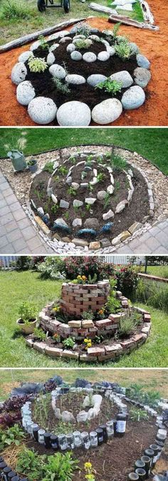 Spiral garden has very cool looking and works great for people with limited space 22 Ways for Growing a Successful Vegetable Garden - Flower Beds and Gardens Spiral Garden, Diy Garden, Garden Beds, Garden Projects, Backyard Projects, Herb Garden, Cool Garden Ideas, Herb Spiral, Garden Shade