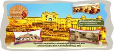 Rajasthan's six grand forts acknowledged global credit with Unesco including them in the World #Heritage Sites. The lucky forts are Chittorgarh, Kumbhalgarh, #Jaisalmer_fort, #Ranthambhore (Sawai Madhopur), Gagaron (Jhalawar) and Amber fort of Jaipur were recognized as serial World Heritage Sites.