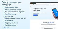 Sandy - Apps Landing Page #WordPress #Theme - #Marketing #Corporate