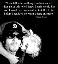 The Walking Dead-- Norman misses Laurie on set!!!! :'(