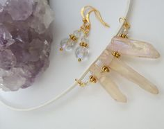Clear Quartz Crystal Points Necklace - Birthday, Anniversary, Christmas…