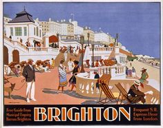 Poster advertising travel to Brighton by The Fine Art Masters