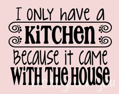 I'm getting this for the kitchen; I hope it fits. Wall Decal by MonogramYou, $17.95