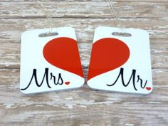 Personalized Couples' Tags by Purely Personalized | Hatch.co #custom