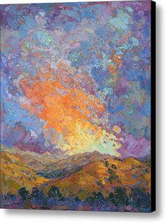 Sherbet Dawn Canvas Print / Canvas Art By Erin Hanson