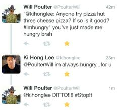 Ki Hong Lee and Will Poulter