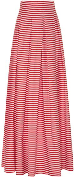 MDS Stripes Inverted Pleat Ball Skirt