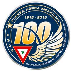 Logotipo 100 años de la Fuerza Aere Mexicana.