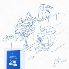 Vielen Dank an den Zeichner, der dieses Bild im Gästebuch des DDR Museum hinterlassen hat!
