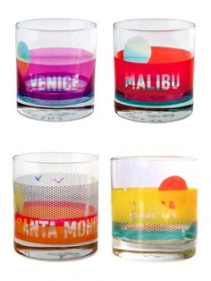 beach set glasses