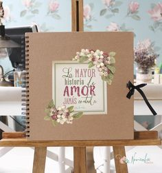 Libro de firmas para bodas en Kraft. 30x30 cms. 40 páginas color kraft de 200 gramos.