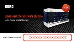 Korg-License-Center.com is a support site that's designed to provide Korg users with the latest downloads and information pertaining to licenses and discount coupons for bundled software that's included with KORG's controller products.