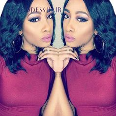 Brazilian short Full lace bob wigs human hair MIddle part Brazlian virgin hair loose wave lace front wig Natural Black Freeship