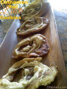 Cinnamon Roll Lace Cookies!