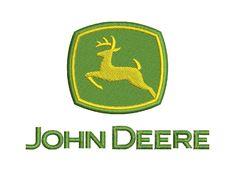 John Deere Logo Machine Embroidery Design