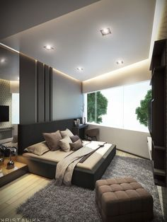 Transitional Bedroom Ideas - We have featured a lot of bedroom designs currently and for sure, you still such as to see more because we never obtain sufficient of bedroom interior decoration ideas that . Modern Luxury Bedroom, Modern Bedroom Design, Master Bedroom Design, Trendy Bedroom, Contemporary Bedroom, Modern Room, Luxurious Bedrooms, Modern House Design, Bed Design