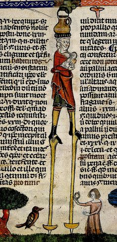 Man on Stilts, woman and bird. detail. France. BL by tony harrison, via Flickr