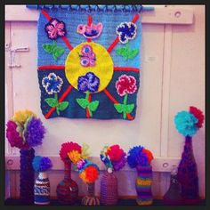 150  Amazing Examples of Crochet as Art: Crochet Cozies Around Glass Vases   Art