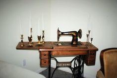 To put cake on - Vintage Singer Sewing machine
