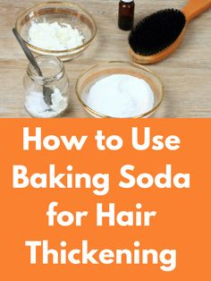 How to Use Baking Soda for Hair Thickening Baking soda is a very good home ingredient having a lot of … in 2020 (With images) Baking Soda For Hair, Baking Soda Shampoo, Baking Soda Uses, Baking Soda Benefits, Hair Thickening Remedies, Diy Hair Thickening Mask, Reduce Hair Fall, Long Hair Tips, Natural Kitchen