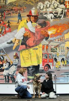 My step-dad, Charles R Platt painted this mural. It is located in the Fire Training Academy in Reynoldsburg, Ohio.