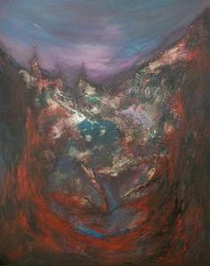 "Saatchi Art Artist Miroslav Vajda; Painting, ""Hell island"" #art"