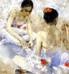Ballet Oil Painting 141