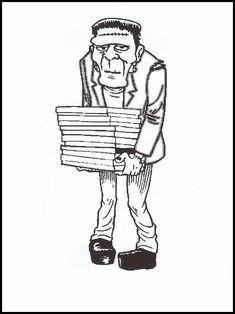 36 Frankenstein Ausmalbilder zum Ausdrucken-Ideen