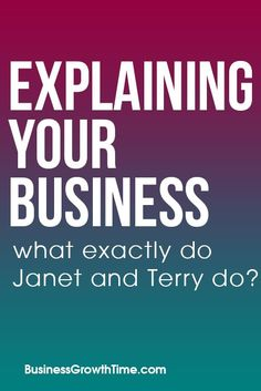 your Business – What exactly do Janet and Terry do? platform MarketingExplaining your Business – What exactly do Janet and Terry do? Facebook Advertising Tips, Facebook Marketing, Affiliate Marketing, Social Networks, Social Media, Facebook Followers, How To Use Facebook, Marketing Tactics, Growing Your Business