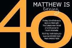 40th Birthday Invitation Wording For Him Party Invitations Free