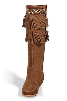 Minnetonka Dusty Double Fringe Boots