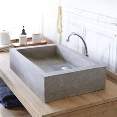CONCRETE WASH BASIN? - Pegase Terrazzo Washbasin 60 grey