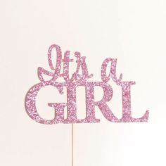Its A Girl Cake Topper, Baby Girl Cake Topper on Amazing Baby Photo 9766 Baby Shower Party Games, Baby Shower Photo Booth, Baby Shower Photos, Baby Shower Cakes, Baby Boy Shower, Christmas Booth, Cricut Cake, Baby Shower Clipart, Wooden Cake Toppers