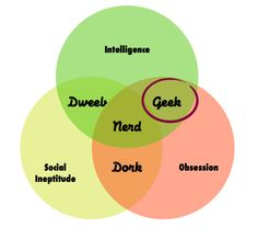 Geekiness is the frame for talent!    Geeks are the intelligent obsessors. And they are the only group who do not fall into the category of socially inept. Quirky yes. Socially inept, no.