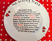 Giving Plate Giving Plate, Pie Dish, Christmas Crafts, Decorative Plates, Handmade Gifts, Etsy, Food, Kid Craft Gifts, Craft Gifts