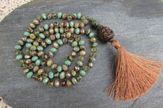 Long collier sautoir hippie bohème perles par LaCaravaneTzigane
