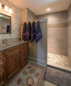 Rustic Bathroom Showers rustic bathroom design interior bathroom - copper, oil rubbed